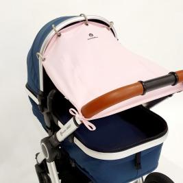 Clona slnečná do kočíka Shady Pastel Pink Petite&Mars