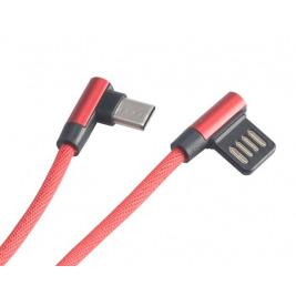 AKASA - USB 2.0 typ A na typ C kabel - 1 m červený