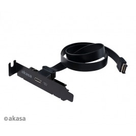 AKASA - USB 3.1 gen 2 Typ C PCI záslepka low profile