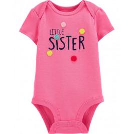 Body krátky rukáv Little Sister dievča 24m