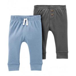 Nohavice dlhé - modrá-šedá 2ks,3m