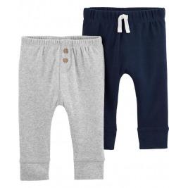 Nohavice dlhé - sivá-modrá 2ks, 6m