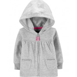 Mikina na zips s kapucňou Gray dievča 12m