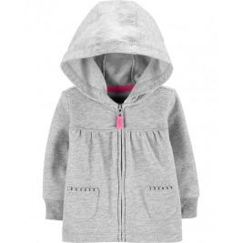 Mikina na zips s kapucňou Gray dievča 18m