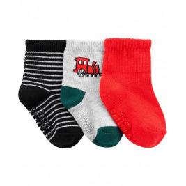 Ponožky 3 ks mix chlapec 3-6m