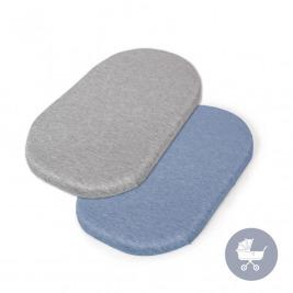 CEBA Plachta do kočíku 73-80 x 30-37 cm 2 ks Light Grey+Blue