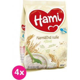 4x HAMI Ryžová (180 g) - nemliečna kaša