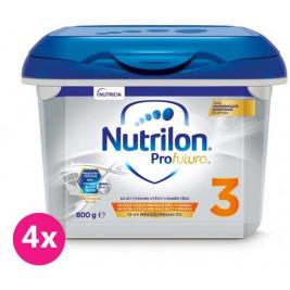 4x NUTRILON 3 Profutura (800 g) - batoľacie mlieko od uk. 12. mesiaca