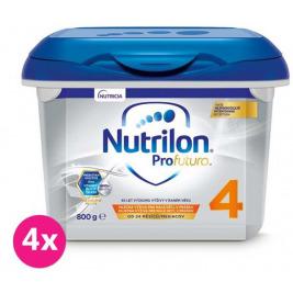 4x NUTRILON 4 Profutura (800 g) - batoľacie mlieko od uk. 24. mesiaca