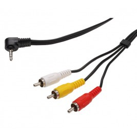 PremiumCord Video + Audio kabel, stereo 3.5mm 4 pinový - 3x CINCH RCA stíněný, M/M, 1,5m