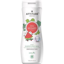 ATTITUDE Detské telové mydlo a šampón (2v1) Little leaves s vôňou melónu a kokosu 473 ml