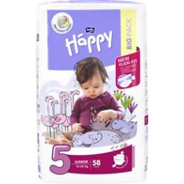 BELLA HAPPY Junior 5 (12-25 kg) Big Pack 58 ks – jednorazové plienky