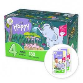 BELLA HAPPY Maxi 4 Big TOY BOX (8-18 kg) 132 ks - jednorazové plienky