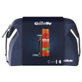GILLETTE Darčekové balenie Fusion5 ProGlide Holiaci strojček + Holiaca hlavica + Gél na holenie