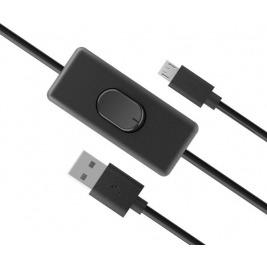 AKASA - USB 2.0 typ A na typ B  kabel se switchem