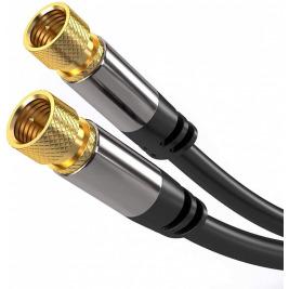 PremiumCord Satelitní antenní HQ kabel F male - F male (135 dB) 4x stíněný 3m