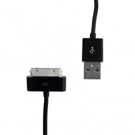 WE Datový kabel iPhone 4 30cm černý
