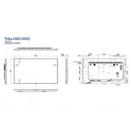 65'' LED Philips 65BDL3050Q-UHD,350cd,MP,16/7