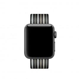 Watch Acc/38/Black Stripe Woven Nylon