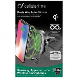 CellularLine Handy Wing držák do ventilace s QI Nabíjením