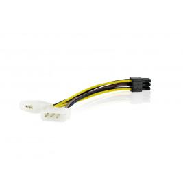 4World Napájecí kabel Molex/BTX 2xHDD/1x6pin 15cm