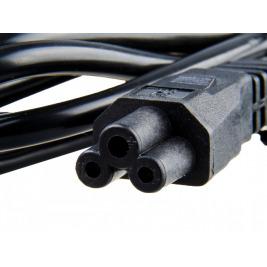 Nabíjecí kabel AVACOM L-E pro notebookové zdroje trojpinové (trojlístek) dlouhý 1,8m