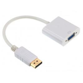 Gembird adaptér DisplayPort - VGA, M/F, white