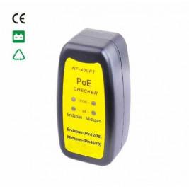 Zkoušečka kabelů POE, tester poe napájení v utp kabelu