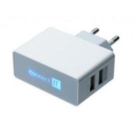 POWER CHARGER se dvěma USB porty 2.1 A/1 A bílý
