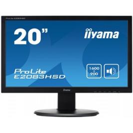 20'' LCD iiyama ProLite E2083HSD-B1 - 5ms, 250cd/m2,1000:1 (12M:1 ACR), VGA, DVI, repro, černý