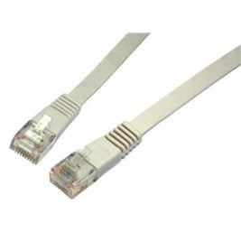 SOLARIX patch kabel plochý CAT6 UTP LSOH 2m šedý