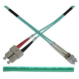 Optický patch kabel duplex LC-SC 50/125 MM 10m OM3