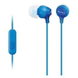 SONY sluchátka MDR-EX15AP, handsfree, modré