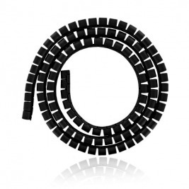 4W Organizér kabelů 34MM 1,5m černý