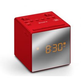 Sony radiobudík ICF-C1T, Duální alarm, červený