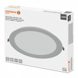 Svítidlo vestavné LED 18,0W 3000K 1530lm kruh 210 bílá IP20