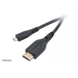 AKASA - mikro HDMI na HDMI kabel s Ethernet 1,5 m