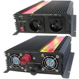 Měnič napětí Carspa CAR1.6KU-24 24V/230V+USB 1600W, modifikovaná sinus