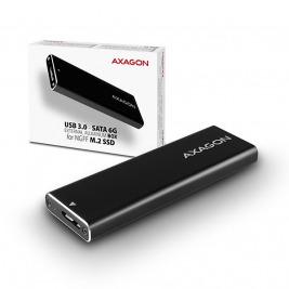AXAGON EEM2-U3, USB3.0 - SATA 6G, M.2 SATA SSD hliníkový box, délka až 2280