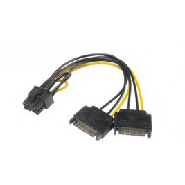 AKASA - SATA power na 6+2-pin PCIe adaptér