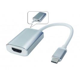 PremiumCord Převodník USB-C - HDMI, 4K@60Hz, hliníkové pouzfro