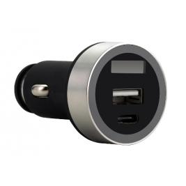 FSP/Fortron Micro CLA USB autonabíječka Shining VD16, 3.1 A, USB*1 & USB-C*1 (pro osobní i náklad.)