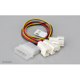 Akasa - 4-pin CPU Molex na 4 x 3-pin fan