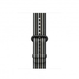 Watch Acc/38/Black Stripe Woven Nylon