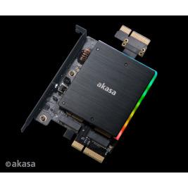 AKASA adaptér dual M.2 do PCIex s chladičem RGB