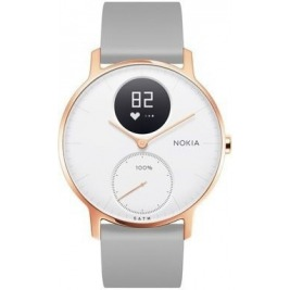 Nokia Steel HR (36mm) Rose Gold w/ Grey Silicone wristband