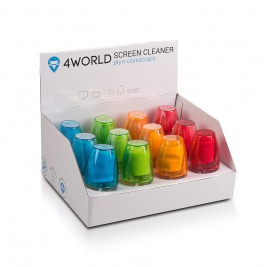 4World 12x Čistící Gel 50ml + hadřík BOX